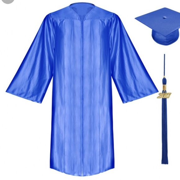 Jackets & Coats | Royal Blue Graduation Gown High School Grad Gown ...
